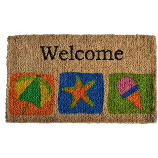 Beach-themed Welcome Mat