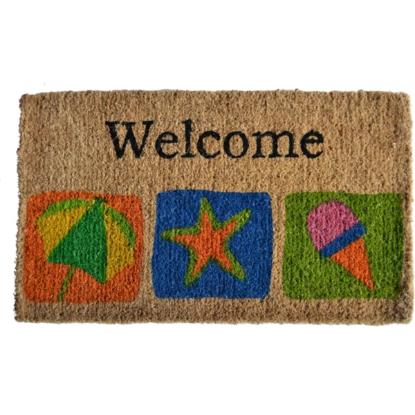 Beach Themed Welcome Mat Free Shipping On Orders Over