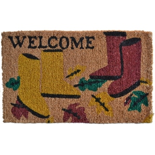 Garden Boots Welcome Door Mat
