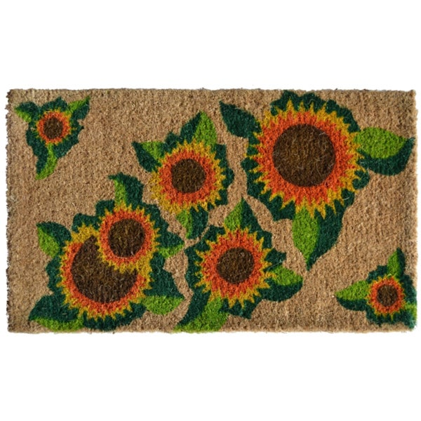 Happy Sunflower Door Mat
