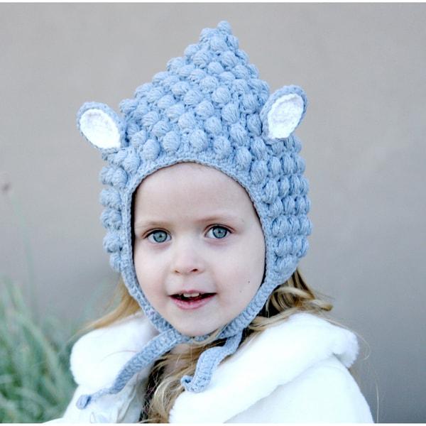 Handmade Grey Lamb Knit Hat