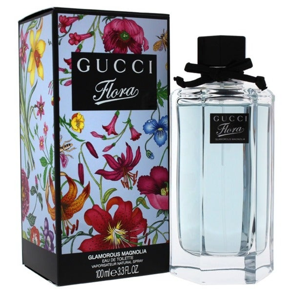 3f24a8c4a Shop Gucci Flora Glamorous Magnolia Women's 3.3-ounce Eau de Toilette Spray  - Free Shipping Today - Overstock - 7523970