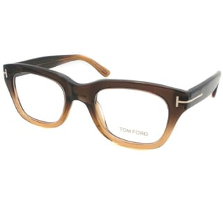 Tom Ford Unisex Amber Brown Plastic Eyeglasses