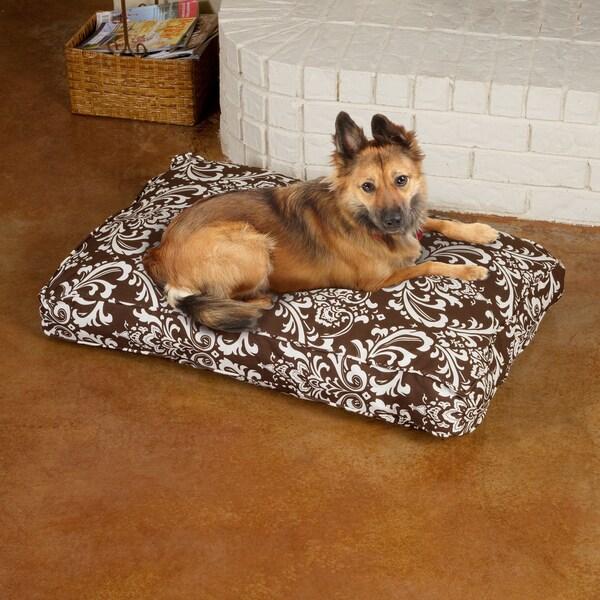 Sweet Dreams Brown Damask Corded Pet Bed