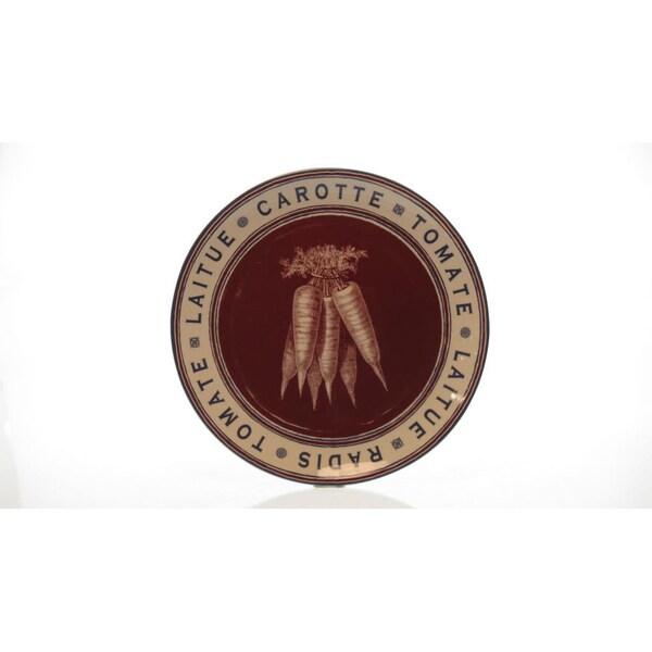 Certified International French Market 13-inch Round Platter