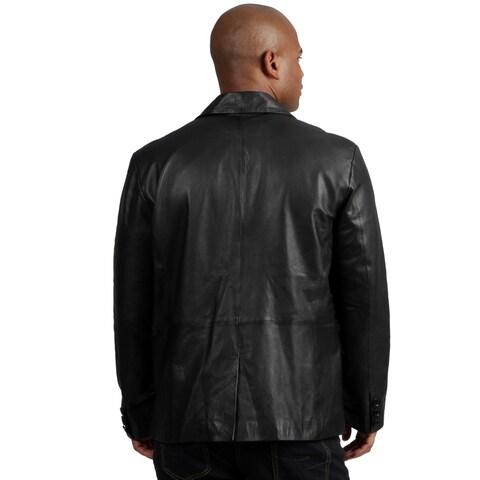 Amerileather Men's Black Sheepskin Leather Blazer