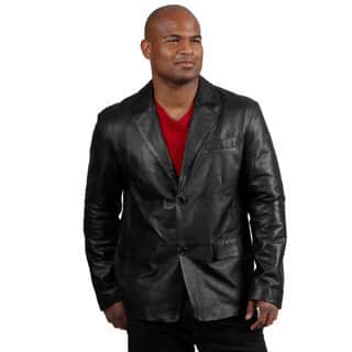 Amerileather Men's Black Sheepskin Leather Blazer|https://ak1.ostkcdn.com/images/products/7524010/P14961555.jpg?impolicy=medium