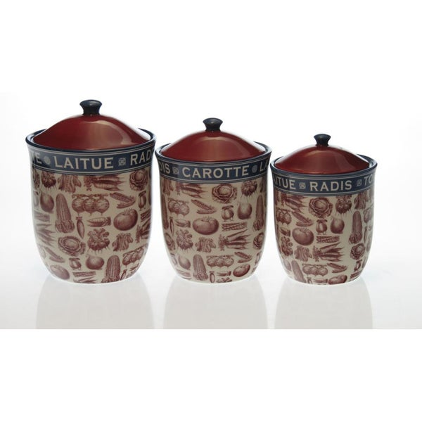Certified International French Market Canisters (Set of 3)