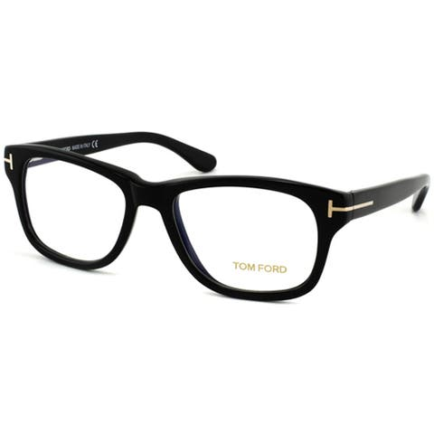 2f4ba85485 Tom Ford Unisex Shiny Black Plastic Eyeglasses
