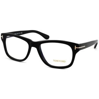Tom Ford Unisex Shiny Black Plastic Eyeglasses