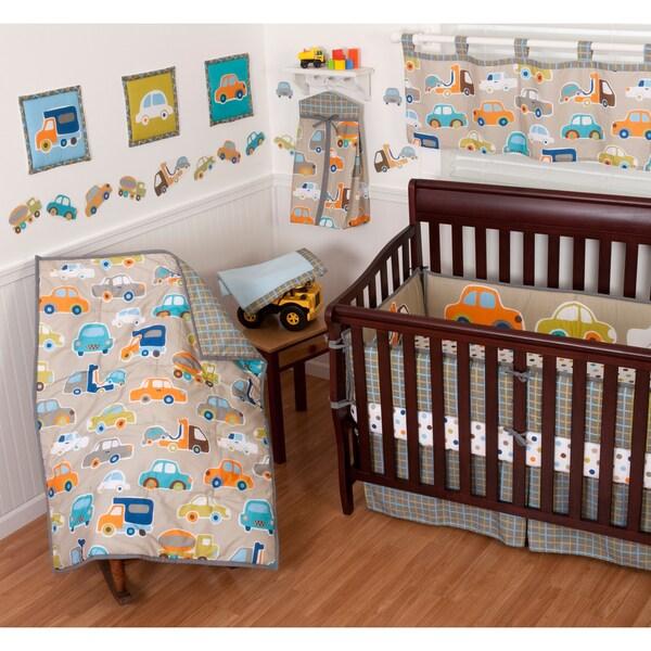 Sumersault Gridlock 12-piece Crib Bedding Set