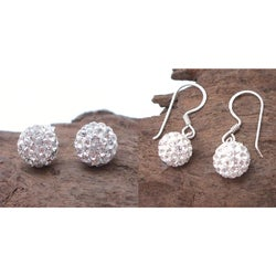 8mm Brilliant White CZ Ball .925 Silver Earrings (Thailand)