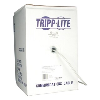 Tripp Lite 1000ft PVC CMR CAT5E CAT5 SOLID UTP BULK CABLE GRAY 1000'