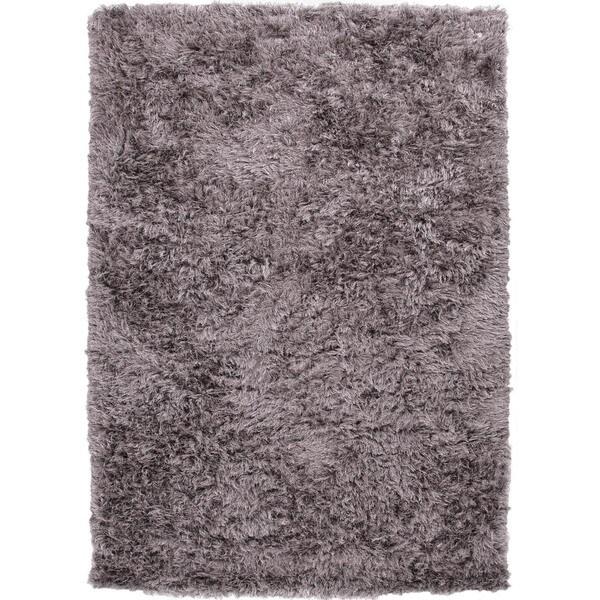 Gray/ Black Solid Shag Rug (9' x 12')