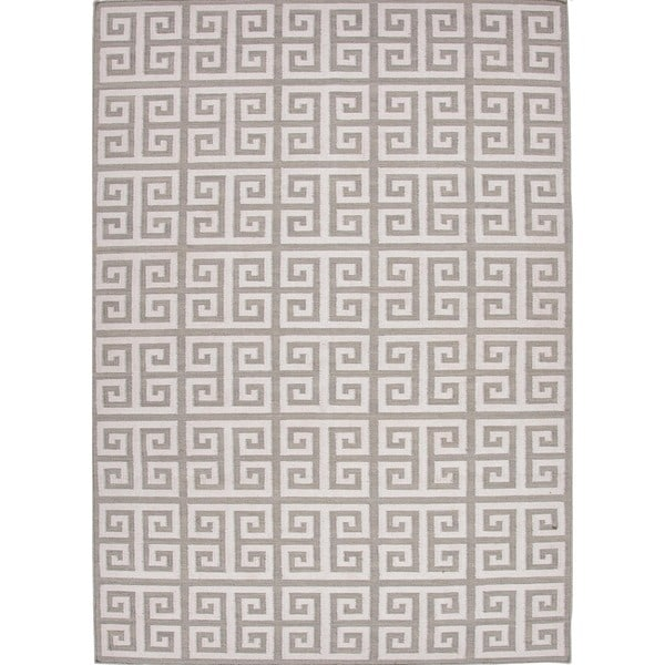 Cipriana Handmade Geometric Cream/ Gray Area Rug (8' X 10')