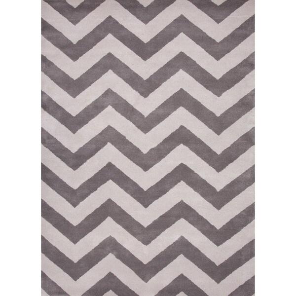 Hand-tufted'Traverse' Modern Geometric Wool Rug (5' x 8')