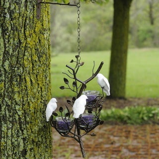 Handmade Les Prado Flock of Love Birds Fine Bone China/ Metal Hanging Decor (Philippines)