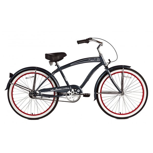 Micargi Men's Matte Black Rover NX3 Beach Cruiser