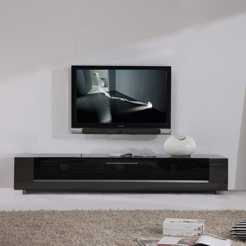 B-Modern Editor Remix Infrared-remote Compatible Grey TV Stand