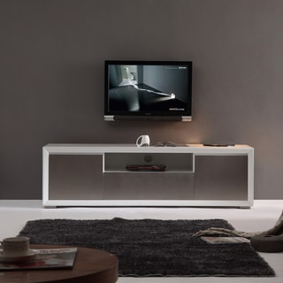 Element High-gloss White Stainless Steel TV Stand