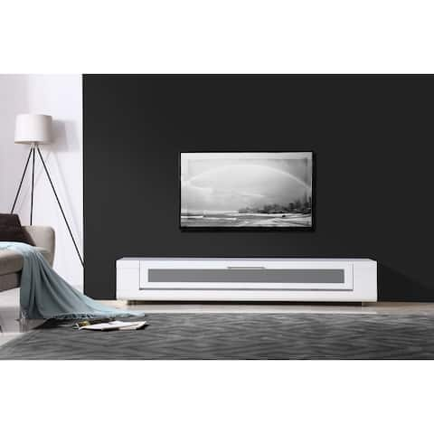 B-Modern Editor Remix Infrared-remote Compatible White TV Stand