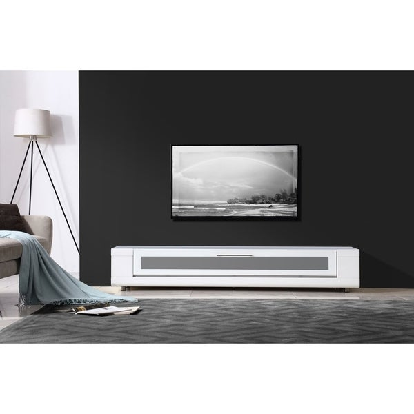 B-Modern Editor Remix Infrared-remote Compatible White TV Stand. Opens flyout.