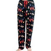 Leisureland Women's Japanese Koi Flannel Lounge Pants