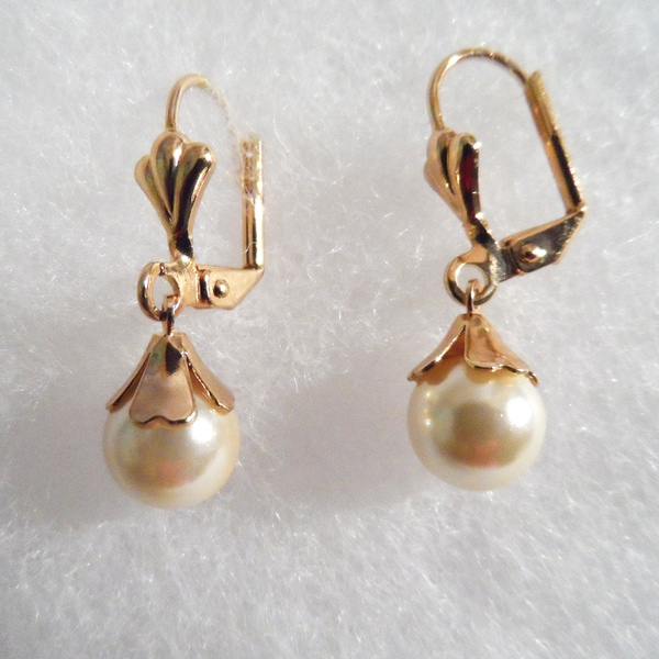 18k Gold Plated with Pearl Earrings