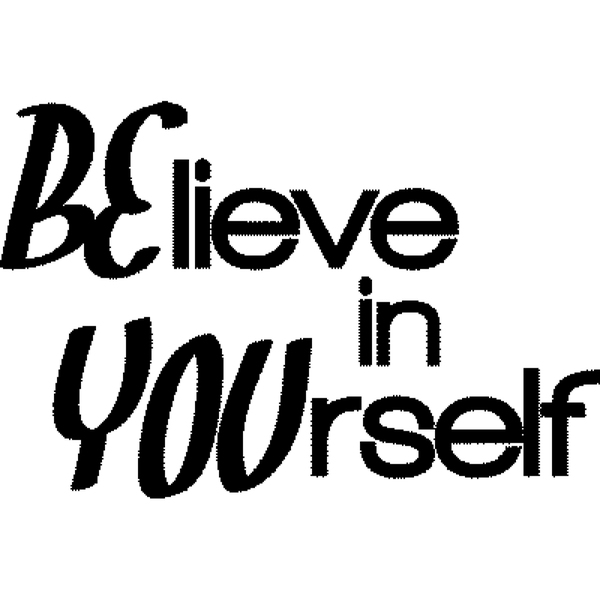 Magenta Cling Stamps-Believe In Yourself