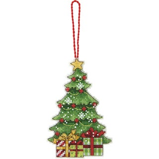 """Susan Winget Tree Ornament Counted Cross Stitch Kit-3""""X4-3/4"""" 14 Count Plastic Canvas"""