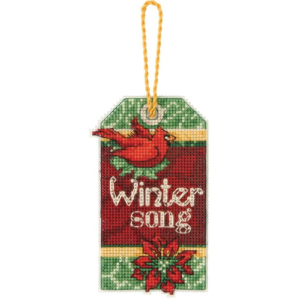 """Susan Winget Winter Song Ornament Counted Cross Stitch Kit-2-3/4""""X4-3/4"""" 14 Count Plastic Canvas"""