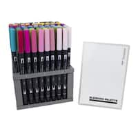 Tombow Dual Brush Pen Set, 96 Colors with Blending Palette