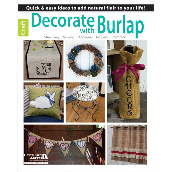 Leisure Arts-Decorate With Burlap