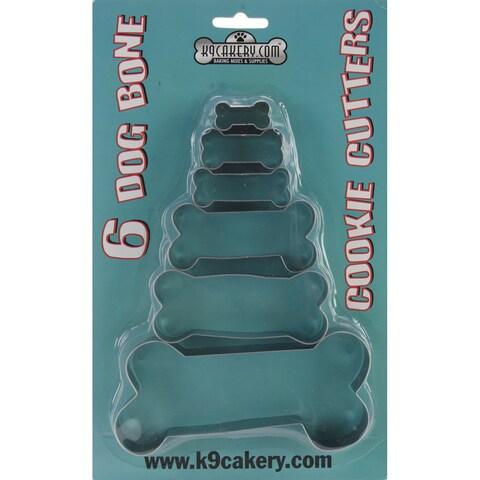 Metal Bone-shaped Cookie Cutters (Pack of 6)