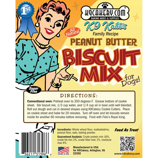 Natural Biscuit Mix For Dogs 11 Ounce-Peanut Butter