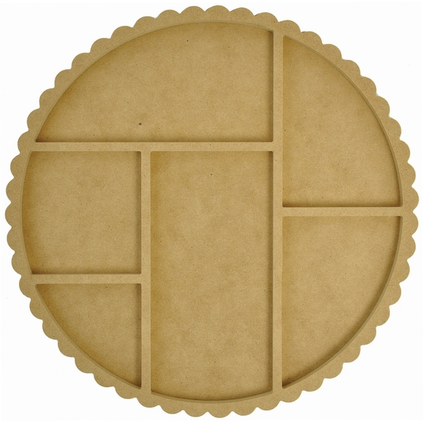 """Beyond The Page MDF Scallop Photo Display-Round 12""""X12""""X.5"""""""