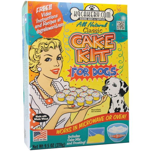 Natural Cupcake Kit For Dogs-Makes 12 Mini Frosted Cupcakes