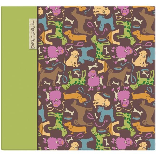 "Cute Doggie Post Bound Album 12""X12""-"