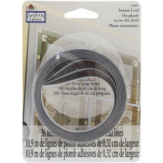 Gallery Glass Instant Lead Lines 24-inch 8/Pkg-Black