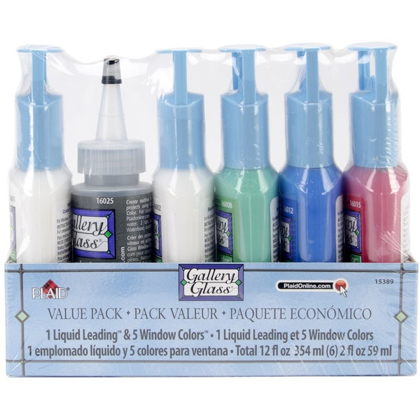 Gallery Glass Window Color Paint Set-Primary Colors
