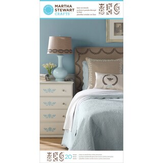 Martha Stewart Large Stencils 3 Sheets/Pkg-Classic Accents 20 Design