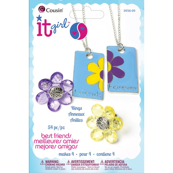 It Girl Jewelry Kits-Flowers 54 Pieces