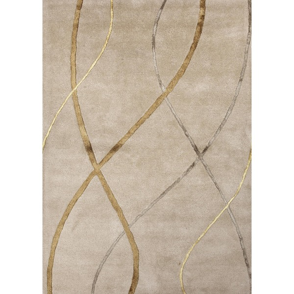 Modern Gradation Wool/ Silk Tufted Rug (5' x 8')