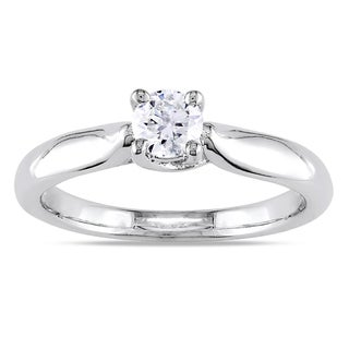 Miadora 14k Gold 1/3ct TDW Diamond Solitaire Engagement Ring