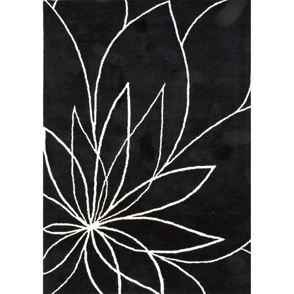 Modern Floral Wool Tufted Rug (8' x 11')