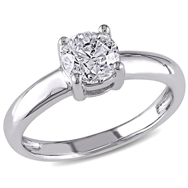 Miadora Signature Collection 14k Gold 1ct TDW Certified Diamond Solitaire Ring