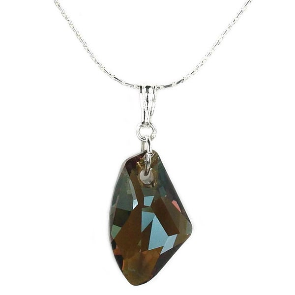 Jewelry by Dawn Sterling Silver Small Bronze Galactic Crystal Necklace