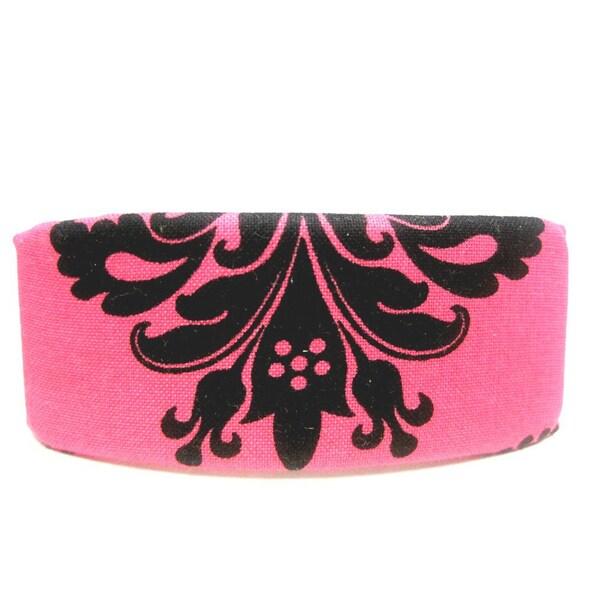 Crawford Corner Shop Pink Black Paisley Barrette