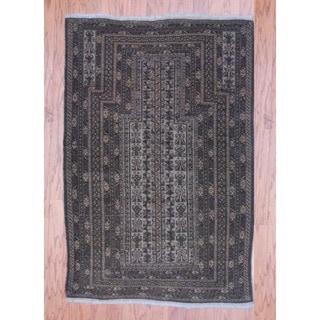 Herat Oriental Afghan Hand-knotted Tribal Balouchi Wool Rug (3'1 x 4'7)