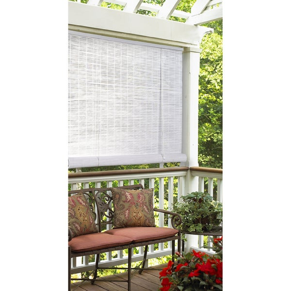 Oval Vinyl White Roll Up Blind (30 x 72)